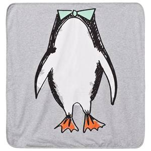 Stella McCartney Kids Unisex Textile Grey Grey Penguin Print Blanket
