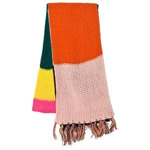 Le Big Girls Scarves Pink Multi Stripe Knitted Scarf