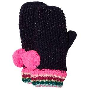 Le Big Girls Gloves and mittens Navy Navy Stripe Knitted Mittens