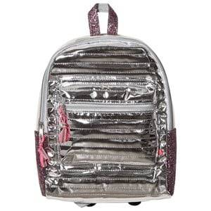 Le Big Girls Bags Silver Metallic Backpack Silver