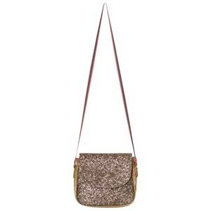 Le Big Girls Bags Gold Gold Glitter Shoulder Bag