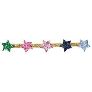 Le Big Girls Hair accessories Gold Gold Elastic Headband with Stars