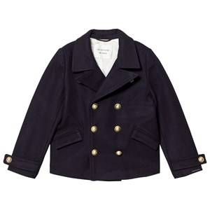 Les Coyotes De Paris Girls Suits and tailoring Navy Charlotte Caban Coat Navy