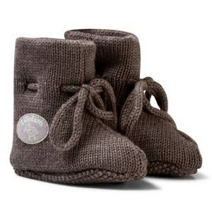 Lillelam Unisex Slippers Brown Merino Wool Baby Slippers Basic Brown