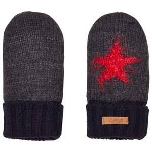 Barts Girls Gloves and mittens Grey Grey and Black Star Milkyway Mittens