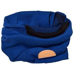 Papu Unisex Scarves Blue Wool Tube Scarf Blue/Black