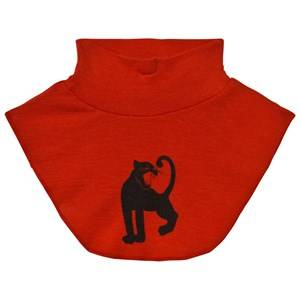 Mini Rodini Unisex Scarves Red Panther Wool Turtleneck Red