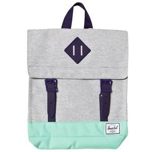 Herschel Unisex Bags Grey Survey Backpack Light Grey/Lucite Green