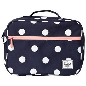 Herschel Unisex Bags Red Pop Quiz Lunch Box Peacoat Polka Dot