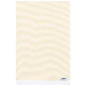 The Wool Company Unisex Textile Yellow Lemon Stripe Blanket
