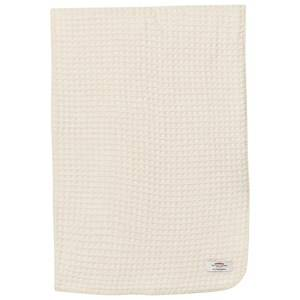The Wool Company Unisex Textile White Lambswool Waffle Blanket