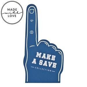 The BRAND Unisex Gloves and mittens Blue Make A Save Foam Hand