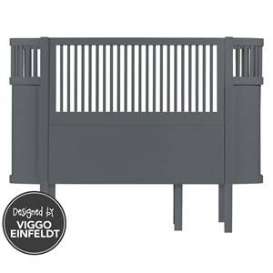 sebra Unisex Furniture Grey Bed Baby & Junior Dark Grey