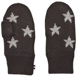Molo Unisex Gloves and mittens Black Snowfall Mittens Pirate Black