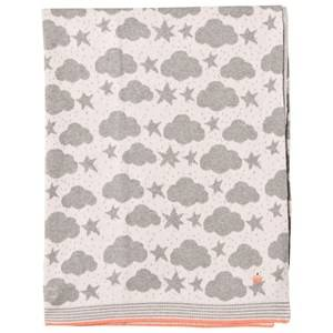 The Bonnie Mob Girls Textile Pink Stars and Clouds Jacquard Baby Blanket Pale Pink
