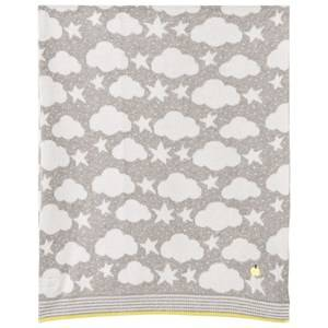The Bonnie Mob Unisex Textile Grey Stars And Clouds Jaquard Baby Blanket Greys