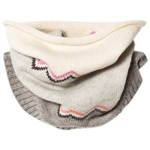 The Bonnie Mob Girls Scarves Pink Chunky Knitted Zig Zag Snood Pink