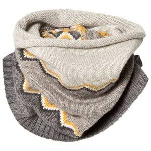 The Bonnie Mob Unisex Scarves Grey Chunky Knitted Zig Zag Snood Grey