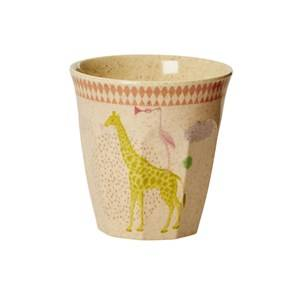 Rice Girls Norway Assort Tableware Pink Kids Bamboo Small Melamine Cup Animal Print