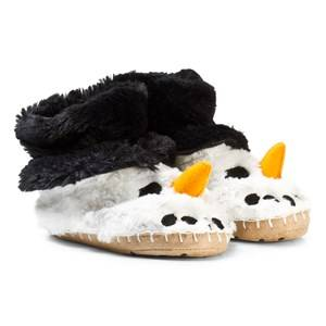 Hatley Unisex Slippers White Snowman Fuzzy Slouch Slippers