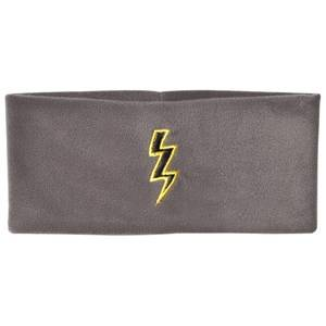 The BRAND Unisex Private Label Hair accessories Grey Bolt Fleece Headband Graphite Grey