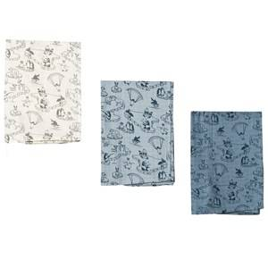 Småfolk Unisex Textile Cream Arctic Ocean Burp Cloths