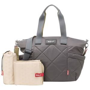 Babymel Girls Bags Grey Evie Quilted Changing Bag Charcoal