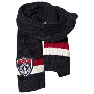Ralph Lauren Boys Scarves Navy Striped Navy/Red Scarf