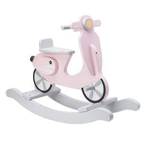 Kids Concept Girls Ride ons and walkers Pink Rocking Scooter Pink/White