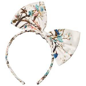 No Added Sugar Girls Hair accessories Cream Peacock Printed Bow Headband