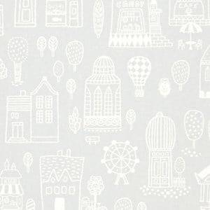 Majvillan Unisex Home accessories Grey Small Town Wallpaper Grey