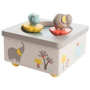 Moulin Roty Unisex Musical instruments and toys White White Musical Box with Elephant and Hippo