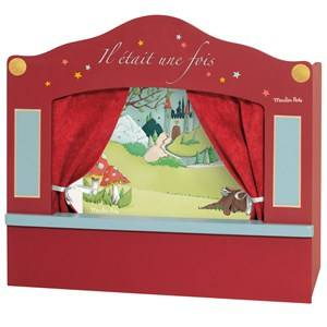 Moulin Roty Unisex Role play Red Red Small Red Puppet Theatre