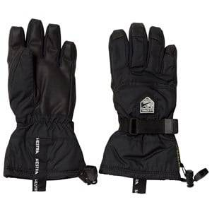 Hestra Unisex Gloves and mittens Black Gore-Tex Gauntlet Jr. - 5 Finger Black