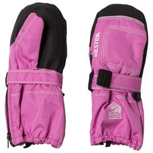 Hestra Unisex Gloves and mittens Pink Baby Zip Long Mitten Pink