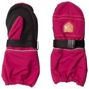 Hestra Unisex Gloves and mittens Pink Kid´s Wool Terry Mitten Pink