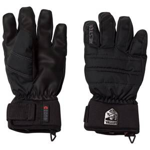 Hestra Unisex Gloves and mittens Black CZone Primaloft Jr. 5 Finger Black