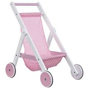 Kids Concept Girls Dolls and doll houses Multi Doll Stroller Star White/Pink