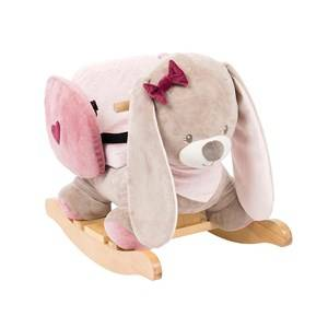 Nattou Unisex Norway Assort Ride ons and walkers Pink Rocking Rabbit Nina