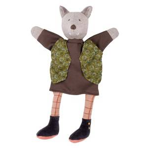 Moulin Roty Unisex Role play Brown The Gentleman Wolf Hand Puppet