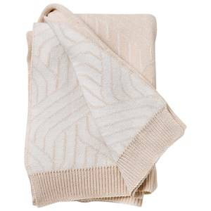 garbo&friends; Unisex Textile Beige Strada Bianco Cotton Blanket