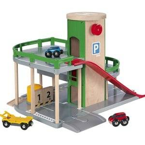 Brio Unisex Vehicles Green Parking Garage set