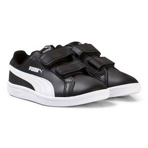 Puma Unisex Sport footwear Black Smash Youth Sneakers Black