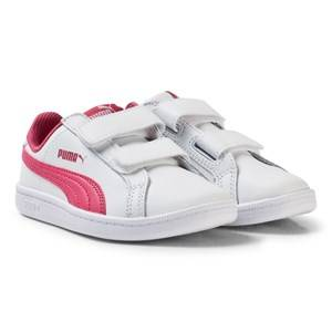 Puma Girls Sport footwear White Smash Youth Sneakers White