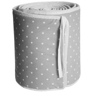 Färg & Form Unisex Bedding Grey Grey Dots Crib Bumper