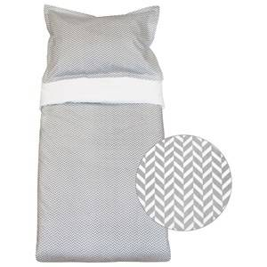 Vinter & Bloom Unisex Bedding Grey Herringbone Bassinet Bed Set Charcoal Grey
