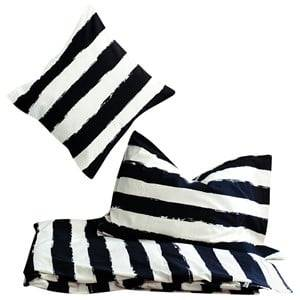 Noe & Zoe Berlin Unisex Bedding White Junior Bedding Black Stripes XL