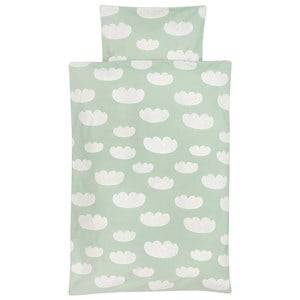 ferm LIVING Unisex Bedding Green Cloud Bedding - Mint - Junior