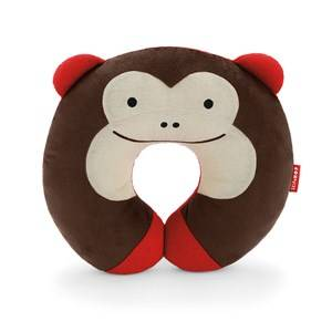 Skip Hop Unisex Bedding Brown Zoo Travel Neckrest Monkey
