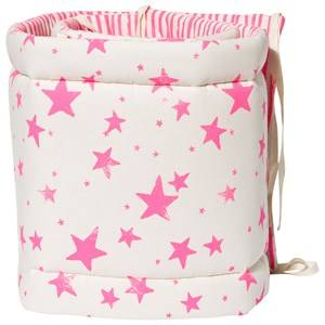 Noe & Zoe Berlin Girls Bedding White Bumper Neon Pink Stars & Stripes